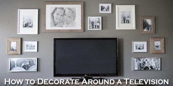 decorate around a television custom framing