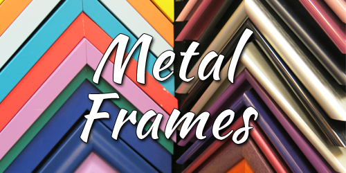 metal frames at our online custom framing store