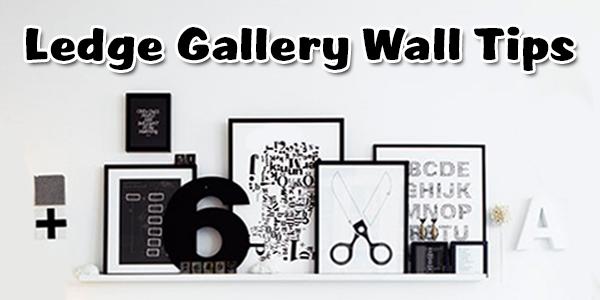 ledge gallery wall custom framing