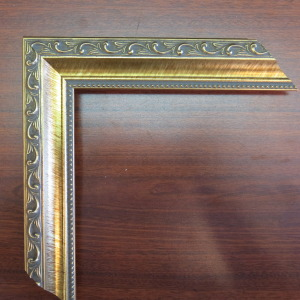 gold wood frame knight face