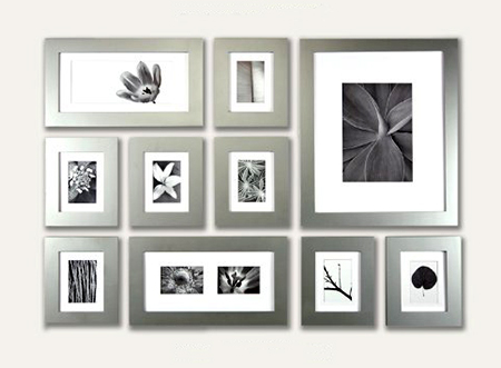 silver wood picture frames