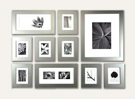 Silver Wood Picture Frames | Grey Wood Custom Frames