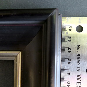 antique black picture frame