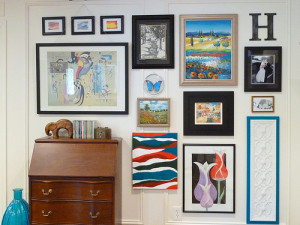 ... how to hang a gallery wall without nails