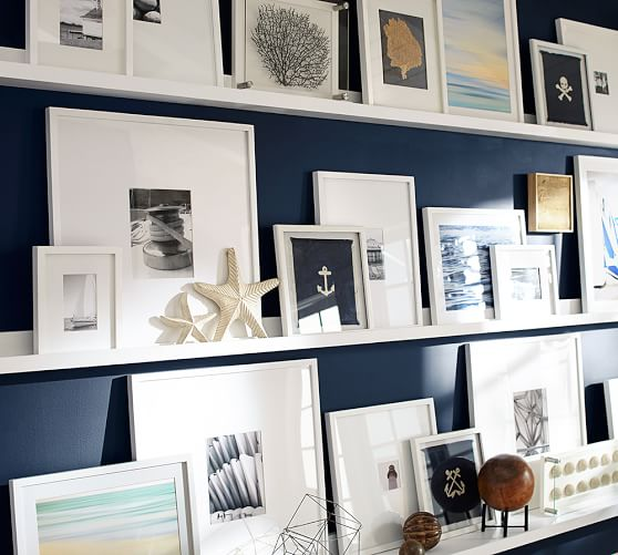 Ledge Gallery Wall Tips Displaying Picture Frames