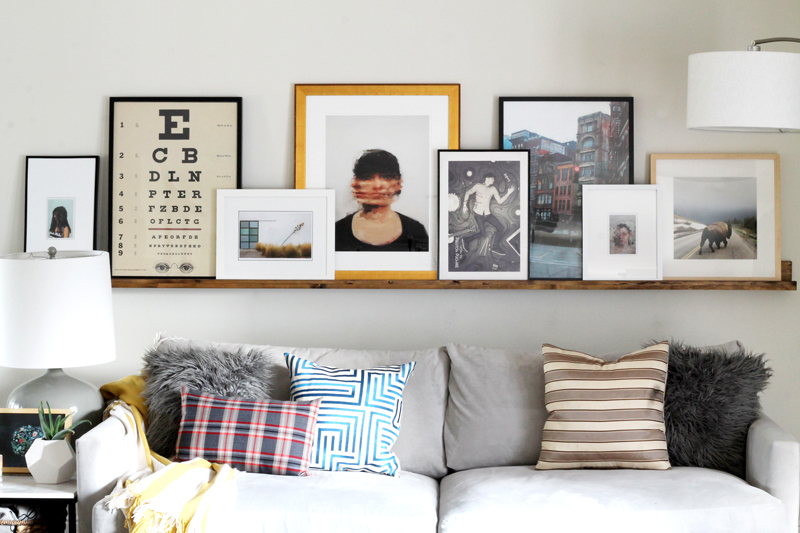 ledge gallery wall picture frames