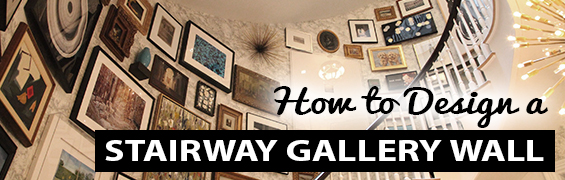 how to design a stairway gallery wall staircase stairwell steps