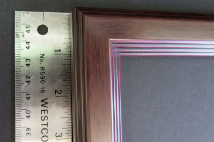 layered ginger narrow picture frame