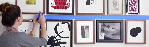 tips for arranging a gallery wall